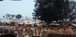 camp des déplacés de Bria Pk3