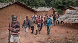 Les combattants de la milice centrafricaine anti-balaka
