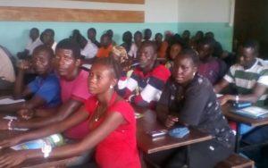 les jeunes en formation agricole à Bouar.