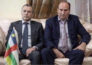 l'ambassadeur russ en centrafrique et le conseiller en communication du Président Touadera