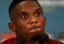 le footballeur Eto'o Sammuel du cameroun