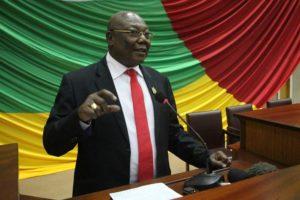 Martin Ziguélé à l'Assemblée nationale centrafricaine