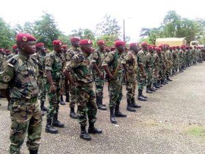 Fin de formation des soldats à Bérongo par des russes