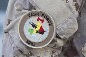 badge des soldats canadiens de la Minuscma