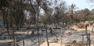 site des déplacés de la ville d'Alindao