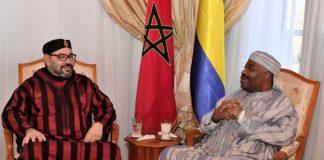 Le Président Ali Bongo et son homologue marocain Mohamed VI à Rabat. CopyrightDR