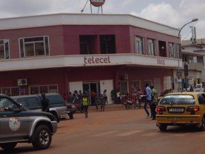 Siège social de la Télécel-Centrafrique à Bangui. CopyrightCNC.