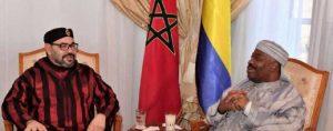 Le Président gabonais Ali Bongo au Maroc. Photo AFP