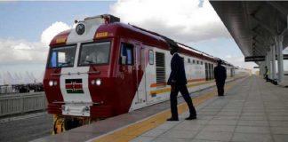 Inauguration, le 31 mai 2017, de la ligne ferroviaire entre Nairobi et Mombasa financée par des capitaux chinois. PHOTO / THOMAS MUKOYA / REUTERS