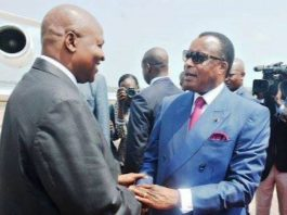 De gauche à droite, Faustin Archange Touadera de Centrafrique et son homologue congolais Denis Sassou Nguesso. CopyrightDR