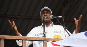 Le candidat Martin Fayulu à la prochaine présidentielle en RDC.