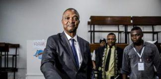 Le dauphin du président congolais Kabila, Emmanuel Ramazani Shadary vote le 30 décemre 2018 à Kinshasa / AFP