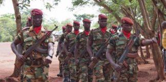 Les soldats FACA au camp Kassaï dans le 7e arrondissement de Bangui. CopyrightDR.