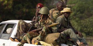 Patrouille des Séléka au nord de Bangui en mars 2014. CopyrightAFP