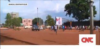 manifestation contre la mission de l'ONU en Centrafrique.