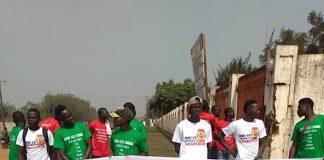Marche à Bangui du soutien au pourparler de Khartoum initié par les russes le 19 décembre. CopyrightCNC.