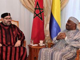 Le roi Mohamed VI et le Président Ali Bongo à Rabat au Maroc. CopyrightDR.