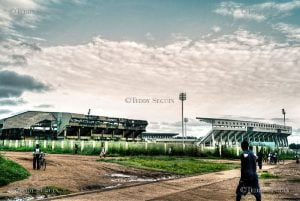 Palais Omni-sports de Bangui. CopyrightDR