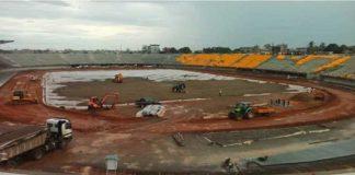Stade de football de Douala au Cameroun. CopyrightAFP