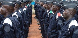 Les nouveaux policiers centrafricains
