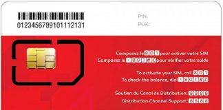 Carte SIM téléphonique de l'opérateur camerounais Nextel