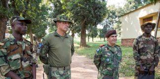 Fin dde formation par l'EUTM des soldats FACA au camp Kassaï de Bangui. CopyrightCNC