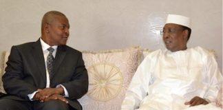 Le Président Faustin Archange Touadera et son homologue tchadien Idriss Deby à Ndiamena. CopyrightDR