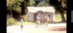 Soldats russes en balade à Sibut le 10 juillet 2018. Credit photo : Anselme Mbata, CNC.