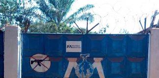 Entrée principale de l'ONG International Médical Corps (IMC à Bria. Credit photo : Moise Banafio. CopyrightCNC.