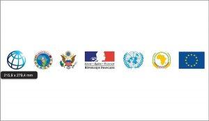 La banière du groupe des 5 États et organismes (G5)  en République centrafricaine