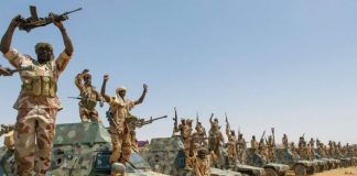Les militaires tchadiens en mouvement au Tchad