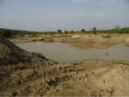 chantier minier chinois à Bozoum en Centrafrique