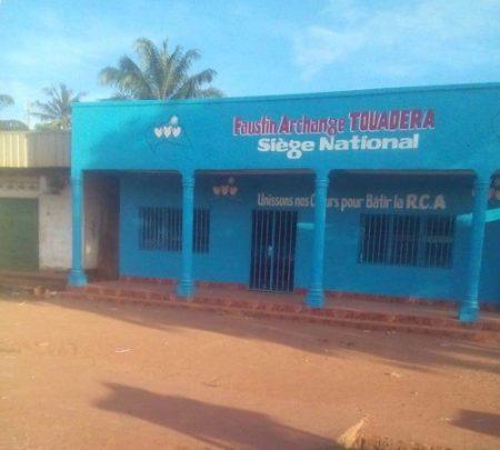 Le siège du nouvement des Touaderateurs, groupe du soutien au Président Faustin Archange Touadera dans le 5e arronddissement de Bangui. CopyrightCNC.