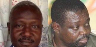 De gauche à droite Mohamed Dhaffane de la SRPJ et Abdoulaye Miskine du FDPC