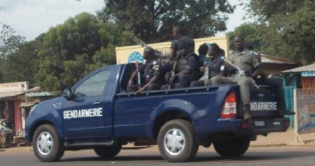 Une patrouille de la gendarmerie nationale à Bangui en Centrafrique