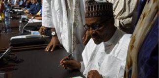 Muhammadu Buhari a signé l'accord de libre-échange de l'Union africaine, au palais des congrès de Niamey, ce 7 juillet 2019.