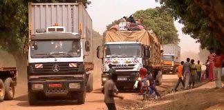 convoir camion Douala Bangui sur le corridor Baboua Beleko en Centrafrique