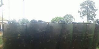 Les policiers en formations à l'école nationale de police le 11 décembre 2018. Crédit photo : Anselme Mbata/CNC.