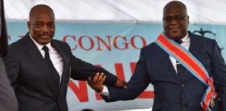 Joseph Kabila et Félix Tshisekedi lors de la passation de pouvoir