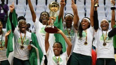 Les D'Tigress du Nigeria célébrant leur victoire