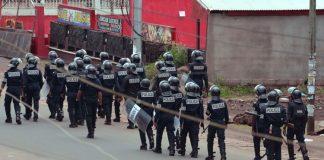 Police camerounaise à Buea au Cameroun le 1er octobre 2017