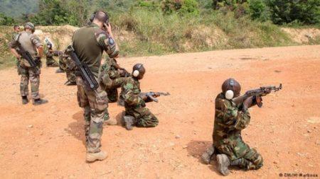 des soldats FACA en formation au camp Kassaï. Crédit photo Marboua/RNL