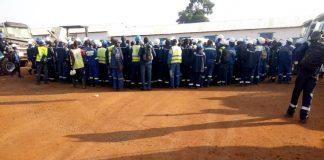 grève des employés de SATOM le 20 juin 2019