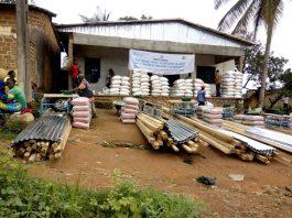 des matériaux de construction d'élevage au bénifice des ménages de la nana-mambéré