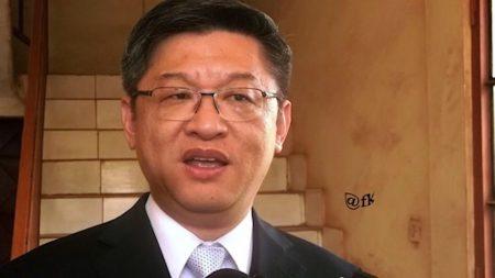 chen dong IMG_29avr2018160749, l'Ambassadeur de la République populaire de Chine en Centrafrique. CopyrightCNC.