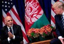 Le présidentafghan - Ashraf Ghani - à gauche - et son homologue américain Donald Trump - lors de l'assemblée générale des Nations unies en septembre 2017