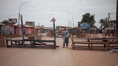 Quartier KM5 dans le troisième arrondissement de Bangui. Copyright2019CNC.