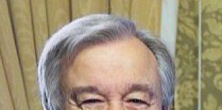 Le Patron de l'ONU Antonio Gutters