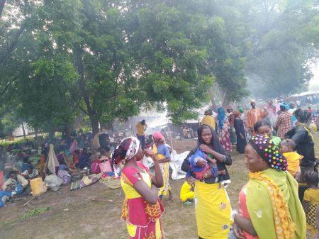 Les déplacés du site de l'élevage à Birao le premier septembre 2019. CNC