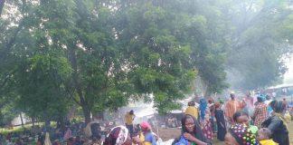 Les déplacés de Birao suite aux affrontement entre le FPRC et le MLCJ le 1 septembre 2019. Copyright2019